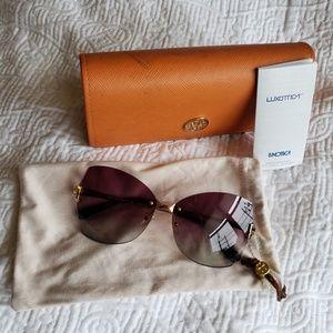Stunning Tory Burch ombre gold purple sunglasses